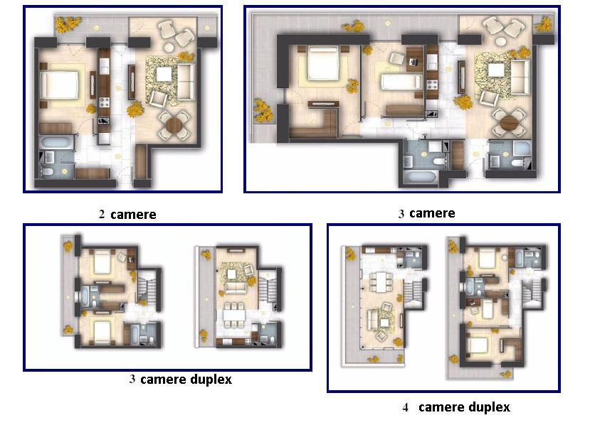 apartamente de inchiriat Monaco Towers 2,3 si 4 camere, sector4, proprietar