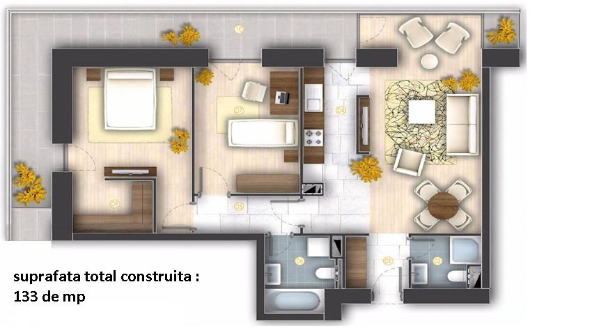 apartamente de inchiriat 3 camere nemobilate