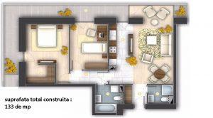 apartamente de inchiriat 3 camere 133 mp, sector 4 Bucuresti