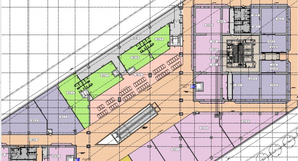 Spatii de birouri plan etaj 1